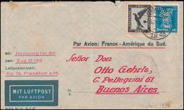 383 Adler 2 Mark Und 393 Goethe Mit APH-Lochung Auf Lp-Brief HAMBURG 7.6.29 - Stamps