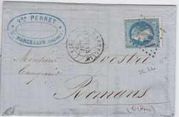 N°29B Sur Lettre Position 32A2 - 1863-1870 Napoléon III Lauré