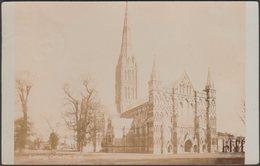 Salisbury Cathedral, North West, Wiltshire, 1910 - RP Postcard - Salisbury