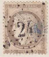 N°56 Oblitéré étoile 24, Des Défauts. - 1871-1875 Cérès