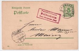 1907, Pfalz, Posthilfsstelle, Rot, RR! , A1756 - Bayern
