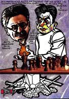 CPM échecs Chess Jihel Tirage Signé 30 Exemplaires Numérotés Signés Trotsky Franc Maçonnerie Maçonnique - Schach
