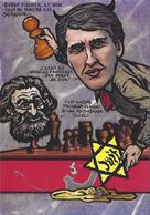 CPM échecs Chess Jihel Tirage Signé 30 Exemplaires Numérotés Signés Bobby Fischer Judaïca Drumont Antisémite - Schach