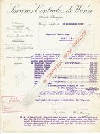 WANZE  STATTE 1926 - SUCRERIES CENTRALES  DE WANZE - Belgique