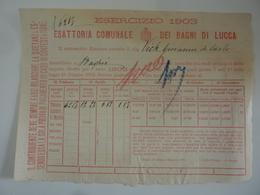 """Documento """"ESATTORIA DEI BAGNI DI LUCCA ESERCIZIO 1903"""" - Italia"""