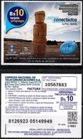 Bolivia 2018 - 06-09-2020 Segunda Edición. Prepago ENTEL MOVIL. Monolito. Arqueología. - Bolivia