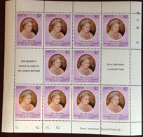 Nevis 2000 Queen Mother Sheetlet MNH - St.Kitts-et-Nevis ( 1983-...)