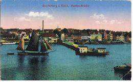 Feldpost-AK Sonderburg Am Alsen, Ponton-Brücke 1918 - Danemark