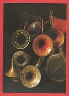 """C.P.M."""" PARIS """" Musée Instrumental Du Conservatoire (Cors à Tons Et Trompes De Chasse Des Raoux Et Courtois) 2 Photos - Museum"""