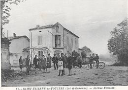 SAINT-ETIENNE-DE-FOUGERE - Avenue Monclar. - France