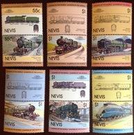 Nevis 1983 Railway Trains Locomotives MNH - St.Kitts-et-Nevis ( 1983-...)