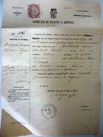 """Documento """"COMUNE DI BAGNI A RIPOLI CERTIFICATO DI MATRIMONIO 14 Luglio 1873"""" - Italia"""