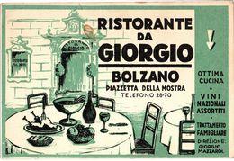 """Ristorante """" Da Giorgio """" - Bolzano ( Piazzetta Della Mostra ) - Retro Bianco - Bolzano (Bozen)"""