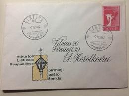 LITHUANIA - 1990 FDC Litauen,Lietuva -  Freidensengel - Vilnius Handstamp - Lituanie