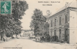 80/ Valines - Bureau De Poste - Route D'Abbeville - Trés Belle Animation - Francia