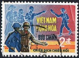 VIET NAM, CAMPAGNA DI PACIFICAZIONE, 1969, FRANCOBOLLO USATO, Scott 347 - Vietnam