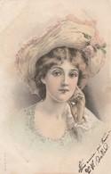 Illustrateur : à Définir : Portrait De Femme Au Chapeau - ( Colorisée ) - Précurseur - - Illustrators & Photographers