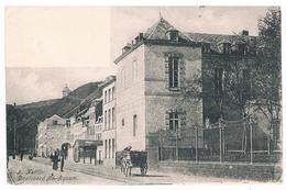 CPA Dos Non Divisé : NAMUR - Boulevard Ad Aquam - Attelage Devant L'Hospice St Gilles ( Parlement Wallon ) - Namur