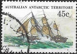 AUSTRALIAN ANTARCTIC TERRITORY 1979 Ships - 45c - L'Astrolabe (D'Urville's Ship) FU - Australian Antarctic Territory (AAT)