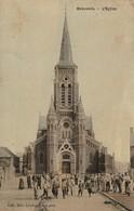 59/ Bauvois - Beauvois -  L'Eglise - Carte Toilée Colorisée écrite En 1910 - Altri Comuni
