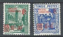 "Tunisie YT 302 & 303 "" Surcharge Rouge "" 1945 Neuf** - Tunisia (1888-1955)"