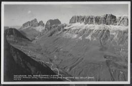 DOLOMITI - PANORAMA DAL PASSO CAPPELLO - PASSO PORDOI - GRUPPO SELLA - FORMATO PICCOLO - NUOVA - Alpinismo