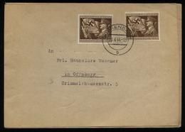 WW II DR Hitler 54 Pfg Sonderbriefmarke MeF Auf Briefumschlag : Gebraucht Mit Hitler Geburtstagstempel Vöhrenbach 20.4 - Deutschland