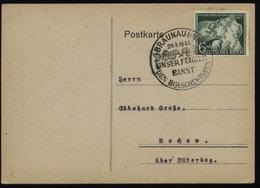 WW II Postkarte : Gebraucht Mit Sonderstempel Adolf Hitler Geburtstag 20.4.1943 Braunau Am Inn , Stempelbeleg. - Deutschland