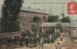 59/ Bauvois - Beauvois -  Ecole Des Filles  - Carte Toilée Colorisée écrite En 1918 - Frankreich