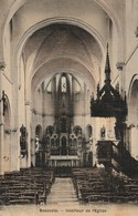 59/ Bauvois - Beauvois -  Interieur De L'Eglise   - Carte Toilée Colorisée écrite En 1908 - Frankrijk
