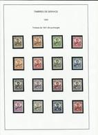INDOCHINE N° 17 à 32 Timbres De Service De  1934 Neufs Avec Charnière - Indochine (1889-1945)