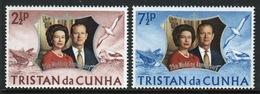 Tristan Da Cunha 1972 Complete Set Of Stamps Commemorating Royal Silver Wedding. - Tristan Da Cunha