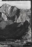 DOLOMITI - PASSO PORDOI - TIMBRI PASSO PORDOI/ALBERGO FALZAREGO/RIFUGIO FLORA - VIAGGIATA FRANCOBOLLO ASPORTATO - Alpinisme
