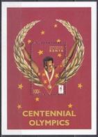 Kenia Kenya 1996 Sport Spiele Olympia Olympics Atlanta Sieger Winner Medaillen Medals Lorbeerkranz, Bl. 39 ** - Kenia (1963-...)