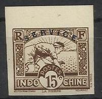 INDOCHINE SERVICE N° 8 ND NON DENTELE - Indochine (1889-1945)