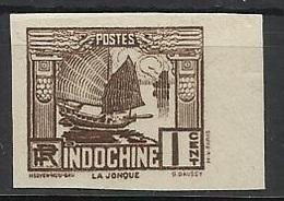 INDOCHINE N° 155 155a ND NON DENTELE - Indochine (1889-1945)