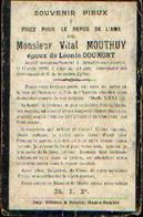Souvenir Mortuaire MOUTHUY Vital  (1859-1903) Mort à MOUSTIER-SUR-SAMBRE - Images Religieuses