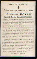 Souvenir Mortuaire MOYEN Hortense (1859-1907) ép. BARTHELEMY, L. Morte à MOUSTIER-SUR-SAMBRE - Images Religieuses