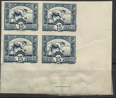 INDOCHINE N° 162A ND NON DENTELE BLOC DE 4 - Indochine (1889-1945)