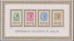 Malta 1985 100Y Postage Stamps M/s ** Mnh  (41690A) - Malta
