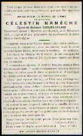 Souvenir Mortuaire NAMECHE Célestin (1857-1905) Mort à MOUSTIER-SUR-SAMBRE - Images Religieuses