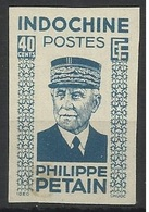 INDOCHINE N° 248 248a PETAIN ND NON DENTELE - Indochine (1889-1945)