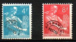 FRANCE. Timbres Préoblitérés De 1953-59 Sans Gomme. Moissonneuse. - Agriculture