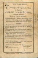 Souvenir Mortuaire NAMECHE Julie (1830-1898) ép. DOUMONT, L. Mort à MOUSTIER-SUR-SAMBRE (FROIDMONT) - Images Religieuses