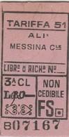 Biglietto Treno - Ali' / Messina Centrale - Chemins De Fer