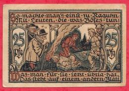 Allemagne 1 Notgeld De 25 Pfenning  Stadt Raguhn  (RARE)  Dans L 'état  N °3157 - [ 3] 1918-1933 : République De Weimar