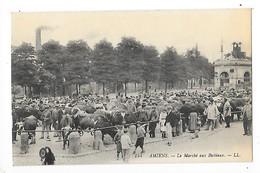 AMIENS  (cpa 80)  Le Marché Aux Bestiaux  -  L 1 - Amiens