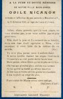 Souvenir Mortuaire NICANOR Odile (1906-1911) Morte à MOUSTIER-SUR-SAMBRE - Images Religieuses