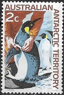 AUSTRALIAN ANTARCTIC TERRITORY 1966 Antarctic Scenery -2c - Emperor Penguins MH - Territoire Antarctique Australien (AAT)