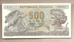 """Italia - Banconota Non Circolata SPL Da 500 Lire """"Aretusa"""" - 1970 - [ 2] 1946-… : Républic"""